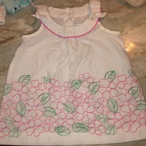 Janie and Jack Floral Tank Top Bow detail 3-6mos